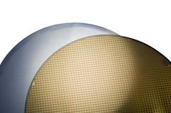 Two SIM Wafers. One blank and the other has the chips etched into the substrate Royalty Free Stock Image