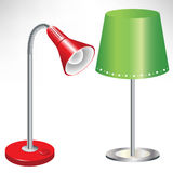 Two simple lamps Stock Photo