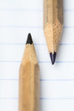 Two simple pencil Royalty Free Stock Photo