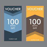 Two simple vector template modern gift certificates Royalty Free Stock Image