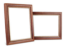 Two simple wooden picture frames with shadow Stock Image