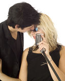 Two singer musicians Stock Images