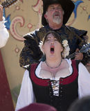Two singers at Renaissance Fair Stock Photography