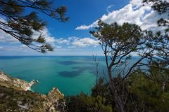 The Two Sister bay, Mount Conero. Marche Stock Photo