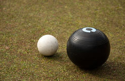 Two sister bowls - Lawn bowl Stock Images