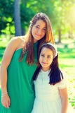 Two sister in the First Communion Day Royalty Free Stock Photos