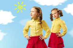 Two sisters Royalty Free Stock Image