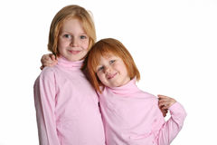 Two sisters stock images