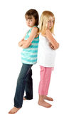 Two Sisters in a Bad Mood Royalty Free Stock Photo
