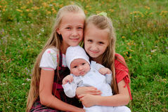 Two sisters and brother Stock Photography