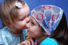 Two sisters are dressed up as fairies. Royalty Free Stock Photos