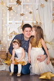 Two sisters and a father Royalty Free Stock Photography