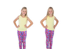 Two sisters with hands on hips Royalty Free Stock Photography
