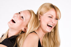 Two sisters having fun Royalty Free Stock Photos