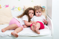 Two Sisters Kids Royalty Free Stock Photos