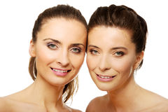 Two sisters with make up. Stock Photo