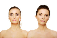 Two sisters with make up. Royalty Free Stock Photos