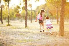 Two sisters in nature Royalty Free Stock Images