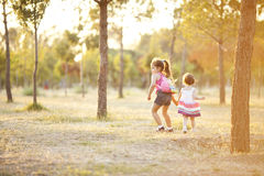Two sisters in nature Royalty Free Stock Photography