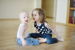 Two sisters playing together Royalty Free Stock Images