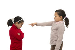 Two Sisters in Quarrel Stock Photography