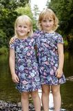 Two sisters by the river Stock Photography