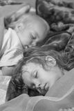 Two sisters sleeps Royalty Free Stock Photo