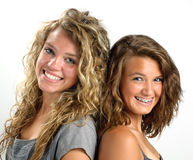 Two sisters smiling Royalty Free Stock Photography