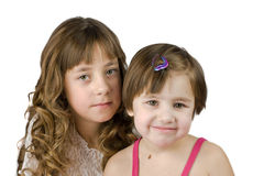Two sisters together Royalty Free Stock Photo