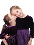 Two sisters together Royalty Free Stock Images
