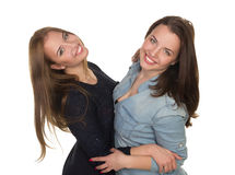 Two sisters, twins Stock Images