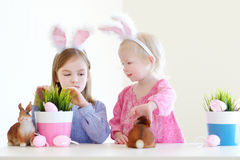 Two sisters wearing bunny ears on Easter Royalty Free Stock Image