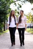 Two sisters young women Royalty Free Stock Photos