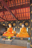 Two sitting statue of the Buddha Royalty Free Stock Images