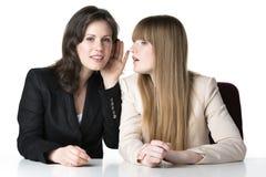 Two sitting women Royalty Free Stock Image