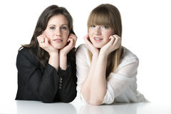 Two sitting women Royalty Free Stock Photo