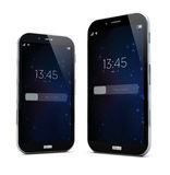 Two sizes smartphones Stock Photography