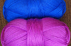 Two skeins of knitting yarn Stock Photos