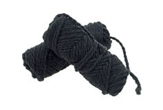 Two skeins thick black yarn Stock Image