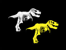 Two skeletons of a Tyrannosaurus Rex. You can use this illustration Stock Photography