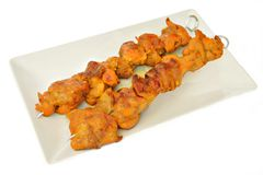 Two skewers of meat Stock Image