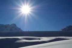 Nordic Skiing in Bilerhohe Pass, Tirol, Austria Royalty Free Stock Photo