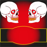 Two skull on a black background Royalty Free Stock Photo