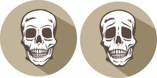Two skull icons Stock Photo