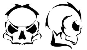 Two skull tattoos Royalty Free Stock Images