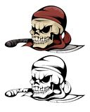 Two skulls of pirate Stock Image