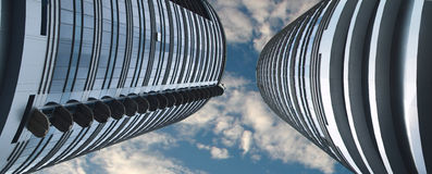 Two sky-scrapers Stock Image