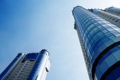Two skyscrapers royalty free stock image