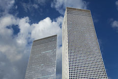 Two Skyscrapers Stock Photography