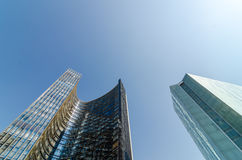 Two Skyscrapers Stock Images